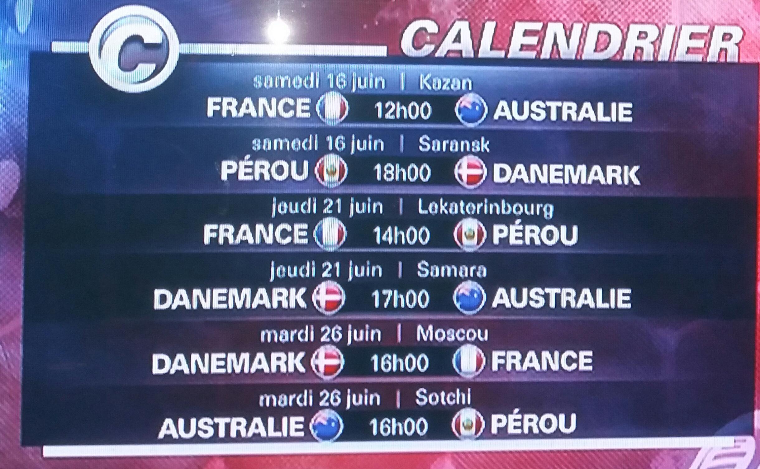 Tirage au sort de la coupe du monde de football 2018 - Calendrier coupe du monde u17 ...